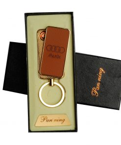 Compact-Leather-Keychain-USB-Rechargeable-Lighter-Audi